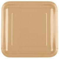Creative Converting 463276 9 inch Glittering Gold Square Paper Plate - 180 / Case