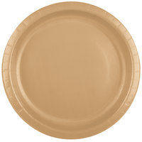 Creative Converting 50103B 10 inch Glittering Gold Paper Plate - 240/Case