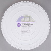 Wilton 302-13 Decorator Preferred Round Scalloped Edge Cake Separator Plate - 13 inch
