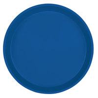 Cambro 1000123 10 inch Round Amazon Blue Customizable Fiberglass Camtray - 12/Case