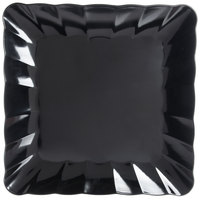Carlisle 792803 19 inch Black Square Large Scalloped Tray - 4/Case