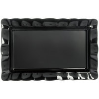 Carlisle 794603 22 1/2 inch x 14 1/2 inch Black Rectangular Medium Scalloped Tray - 4/Case