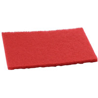 Pacific 855904 14 inch x 20 inch Red Rectangular Buffing Floor Pad - 10 / Case
