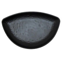 Elite Global Solutions JW6014 Ore 9 3/4 inch x 6 1/4 inch Black Half-Moon Tray