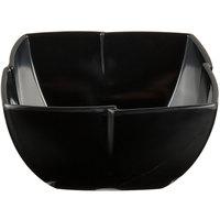 Carlisle 3331003 Rave Displayware 1.5 Qt. Black Melamine Serving Bowl - 6/Case