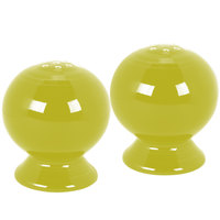 Homer Laughlin 497332 Fiesta Lemongrass Salt and Pepper Set - 4/Case