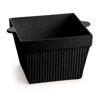 Tablecraft CW1490BK 6.5 Qt. Black Cast Aluminum Square Bowl