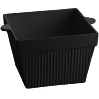 Tablecraft CW1490BK 6.5 Qt. Black Cast Aluminum Square Bowl