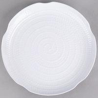 Carlisle 4451402 Terra 14 inch White Round Scalloped Textured Platter - 12/Case