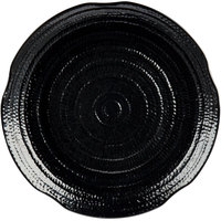 Carlisle 4451803 Terra 18 inch Black Round Scalloped Textured Platter - 12/Case
