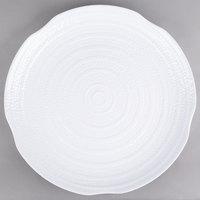 Carlisle 4451802 Terra 18 inch White Round Scalloped Textured Platter - 12/Case