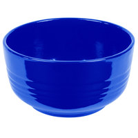 Tablecraft CW3170CBL 3.5 Qt. Cobalt Blue Cast Aluminum Fruit Bowl