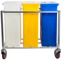 Winholt 148PIB Triple Ingredient Bin with Aluminum Frame and