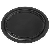 Carlisle 4441003 Palette Designer Displayware Black 17 inch x 13 inch Melamine Wide Rim Oval Platter - 4/Case