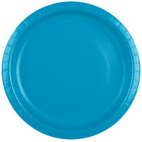 Creative Converting 503131B 10 inch Turquoise Blue Paper Plate - 240/Case