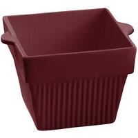 Tablecraft CW1480TC 18 oz. Terra-Cotta Cast Aluminum Square Condiment Bowl