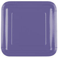 Creative Converting 463268 9 inch Purple Square Paper Dinner Plate - 180/Case