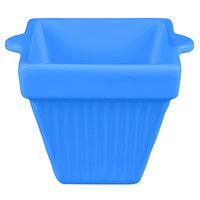 Tablecraft CW1480CBL 18 oz. Cobalt Blue Cast Aluminum Square Condiment Bowl