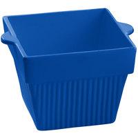 Tablecraft CW1480BL 18 oz. Cobalt Blue Cast Aluminum Square Condiment Bowl