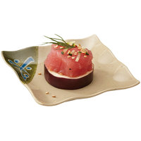 GET 252-10-TD Japanese Traditional 4 inch Square Dish - 24/Case