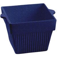 Tablecraft CW1480BS 18 oz. Blue Speckle Cast Aluminum Square Condiment Bowl
