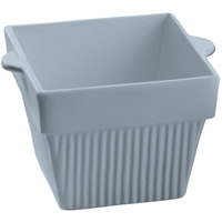 Tablecraft CW1480GY 18 oz. Gray Cast Aluminum Square Condiment Bowl