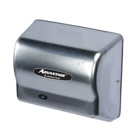 American Dryer AD90SS Advantage Series Automatic Hand Dryer with Stainless Steel Cover - 100/240V, 1250-1400W