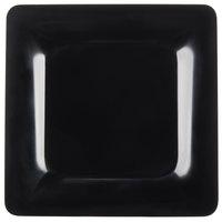 Carlisle 4440003 Palette Designer Displayware Black 12 inch x 12 inch Melamine Wide Rim Square Plate - 4/Case
