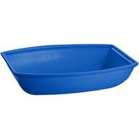 Tablecraft CW3190CBL 10.5 Qt. Cobalt Blue Cast Aluminum Oblong Salad Bowl