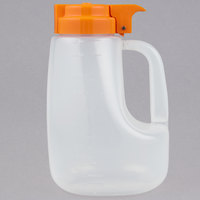 Tablecraft PP48X Option 48 oz. Dispenser Jar with Orange Top