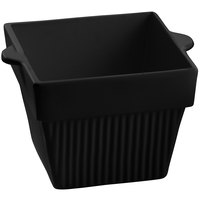 Tablecraft CW1480BK 18 oz. Black Cast Aluminum Square Condiment Bowl