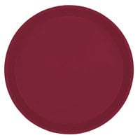 Cambro 1000522 10 inch Round Burgundy Wine Fiberglass Camtray - 12 / Case
