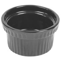Tablecraft CW1610N 10.5 oz. Natural Cast Aluminum Souffle Bowl with Ridges