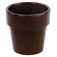 Tablecraft CW1450TC 18 oz. Terra-Cotta Cast Aluminum Round Condiment Bowl