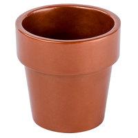 Tablecraft CW1450CP 18 oz. Copper Cast Aluminum Round Condiment Bowl