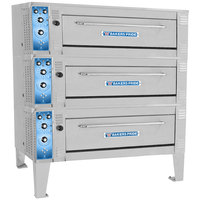 Bakers Pride ER-3-12-3836 55 inch Triple Deck Electric Roast / Bake Oven - 220-240V, 1 Phase