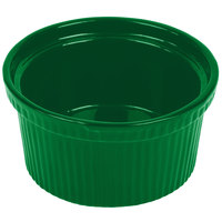 Tablecraft CW1620GN 1 Qt. Green Cast Aluminum Souffle Bowl with Ridges
