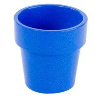 Tablecraft CW1450BS 18 oz. Blue Speckle Cast Aluminum Round Condiment Bowl