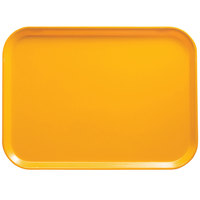Cambro 57504 4 15/16 inch x 6 15/16 inch Rectangular Mustard Customizable Fiberglass Camtray - 12/Case