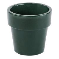 Tablecraft CW1450HGN 18 oz. Hunter Green Cast Aluminum Round Condiment Bowl