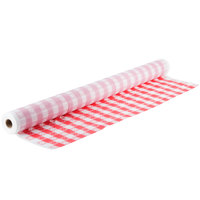 Atlantis Plastics 2TC300-GING Red Gingham Patterned Plastic Table Cover