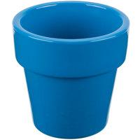 Tablecraft CW1450SBL 18 oz. Sky Blue Cast Aluminum Round Condiment Bowl