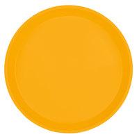 Cambro 1000504 10 inch Round Mustard Customizable Fiberglass Camtray - 12/Case