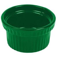 Tablecraft CW1610GN 10.5 oz. Green Cast Aluminum Souffle Bowl with Ridges