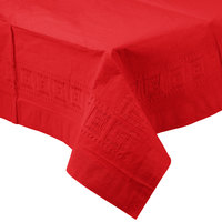 Creative Converting 711031B 54 inch x 108 inch Classic Red Tissue / Poly Table Cover - 24/Case