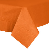 54 inch x 54 inch Orange Tissue / Poly Table Cover - 50/Case