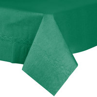 54 inch x 54 inch Hunter Green Tissue / Poly Table Cover - 50/Case