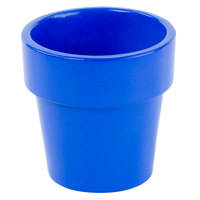 Tablecraft CW1450CBL 18 oz. Cobalt Blue Cast Aluminum Round Condiment Bowl