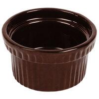 Tablecraft CW1610TC 10.5 oz. Terra-Cotta Cast Aluminum Souffle Bowl with Ridges