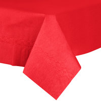 54 inch x 54 inch Red Tissue / Poly Table Cover - 50/Case
